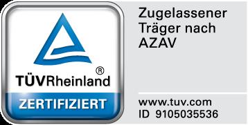 TÜV AZAV Zertifikat