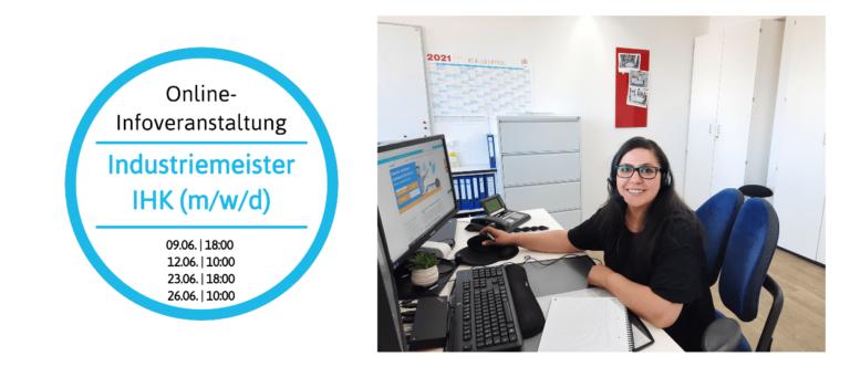 Digitale Infoveranstaltung – Industriemeister (m/w/d)