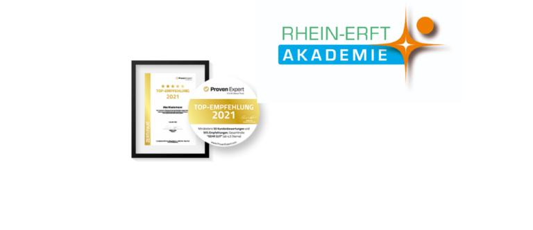 Rhein-Erft Akademie erhält TOP-Empfehlung 2021